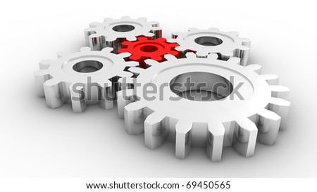 Gears concept - stock photo