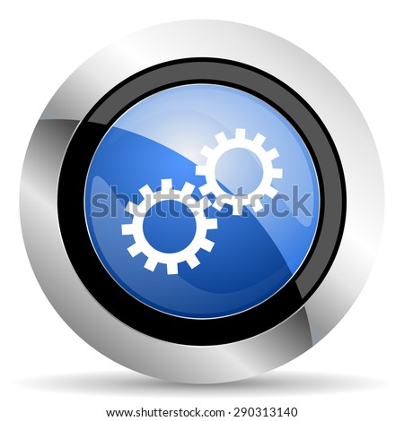 gears icon options sign original modern design for web and mobile app on white background    - stock photo