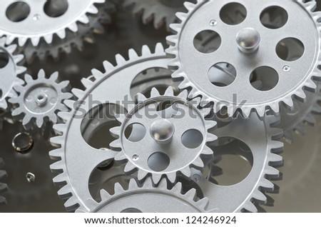 Gears Interlocking - stock photo