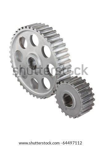 gears of mechanisms isolated on a white background