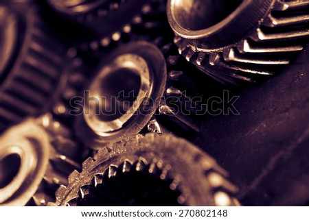 Gears (old and dirty) - stock photo