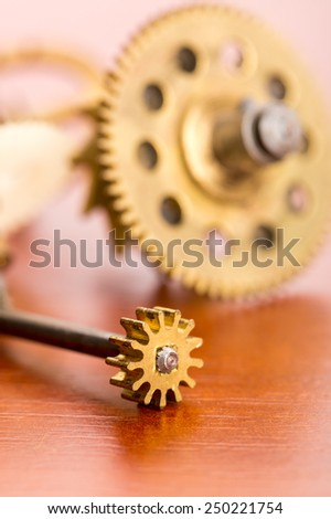 Gears on the table - stock photo