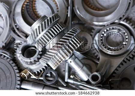 gears parts for the automotive repair industry. - stock photo