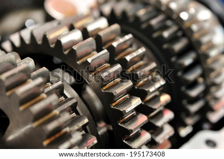 Gears with selective focus. - stock photo