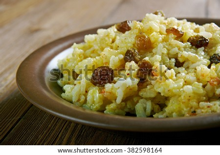 Geelrys  - South AfricanYellow Rice With Raisins