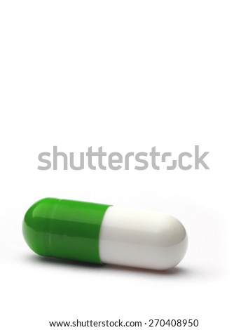 Gel Capsule on white background. - stock photo