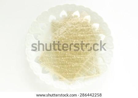 gelatin sheet - stock photo