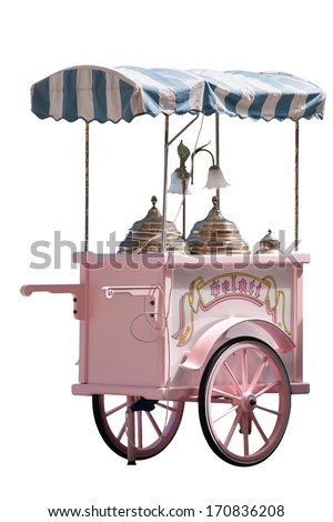 Gelato in Italy - ice cream truck - stock photo