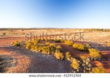 Gem fields near Gemtree in the Northern Territory, Australia - stock photo