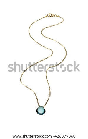 Gem stone necklace - stock photo