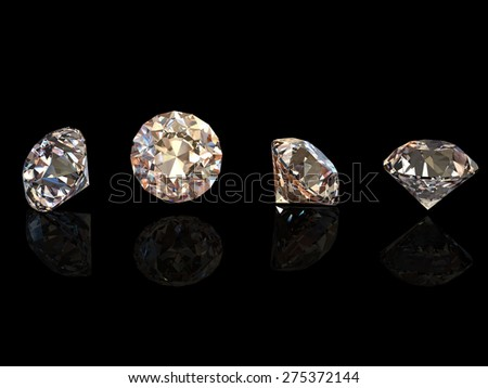 Gemstone. Collections of jewelry background. Cognac diamond