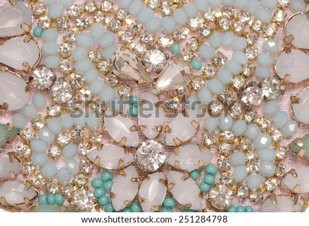 gemstone jewellery abstract background texture - stock photo