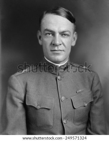 Gen. Hugh Johnson at the end of World War 1. Ca. 1919. He joined FDR's Brain Trust during the 1932 presidential election and drafted campaign speeches. - stock photo