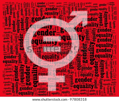 Gender Equality Sign - stock photo