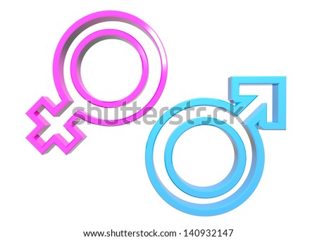 Gender Symbols isolated on white.