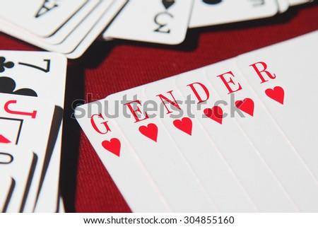 GENDER word written on card  - stock photo