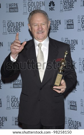 GENE HACKMAN at the 60th Annual Golden Globe Awards at the Beverly Hills Hilton. 19JAN2003.  Paul Smith / Featureflash