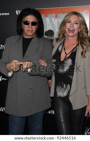 "Gene Simmons, Shannon Tweed at the ""Haywire"" Los Angeles Premiere, Directors Guild Of America, Los Angeles, CA 01-05-12"