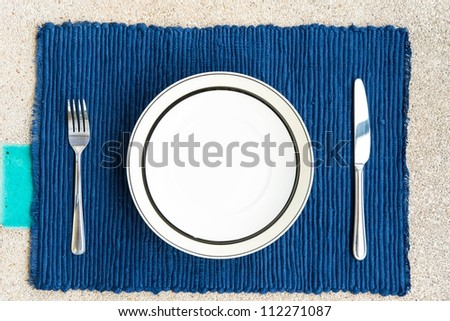 General dinner and lunch set with fork and knife, can be use for food related concepts and background