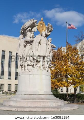 General George Meade memorial in Washington DC - stock photo