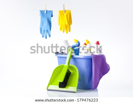 general spring house cleaning concept