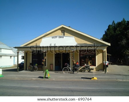 general store in a little village, new zealand - stock photo