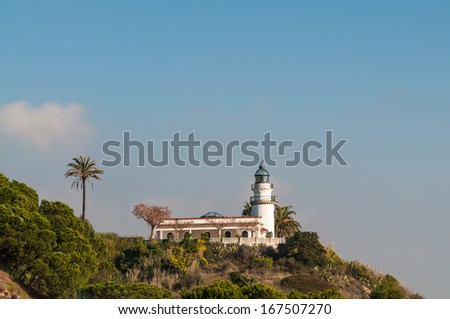 General view of a lighthouse on the coast