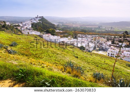 General view of Arcos de la Frontera. Cadiz,  Spain
