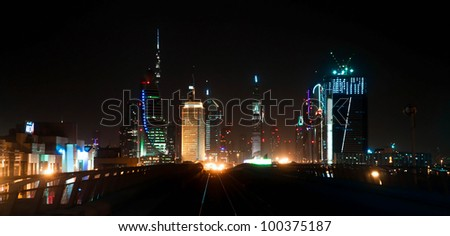 General view of Dubai Metro