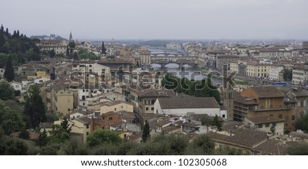 General view of Florence, Italy
