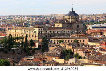 General view of the famous town of Toledo, Spain - stock photo