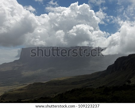 General view of the Roraima tepui - Venezuela, South America