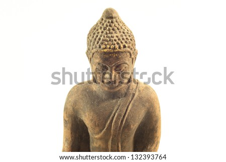 generally buddha statue on a white background