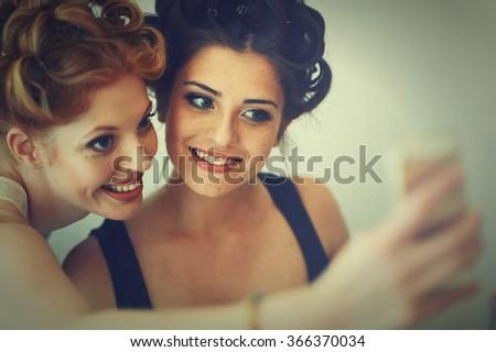 generation selfie - stock photo