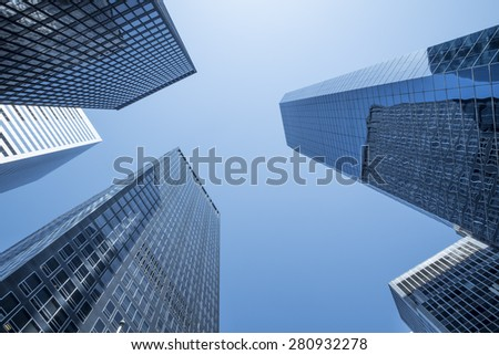 Generic abstract of new city skyscrapers - landscape exterior