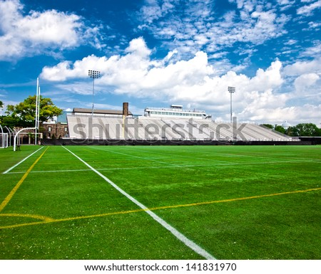 Generic American football and general sports stadium. - stock photo