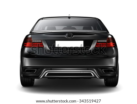 Generic black car - Rear view