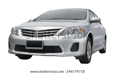 generic car, studio shot isolated on white background - stock photo