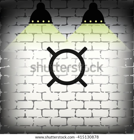 Generic currency symbol icon. - stock photo