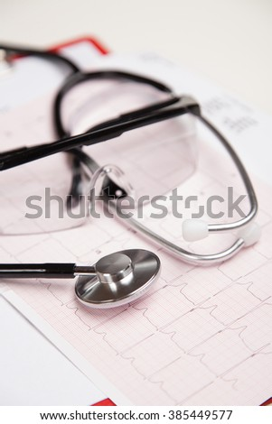 Generic ficticious medical report and cardiogram
