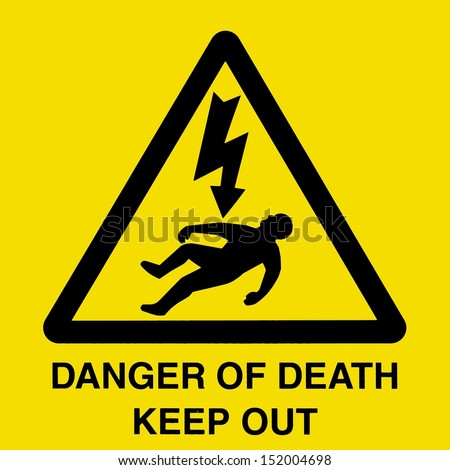 Generic High Voltage Danger Sign - stock photo