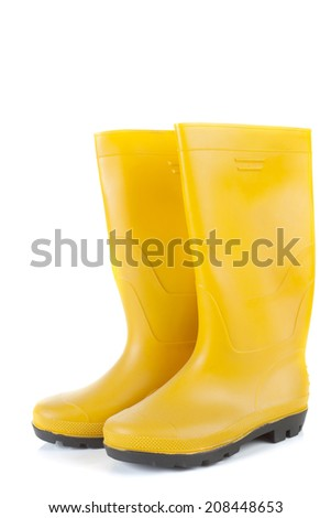 Generic pair of work boots isolated on white background