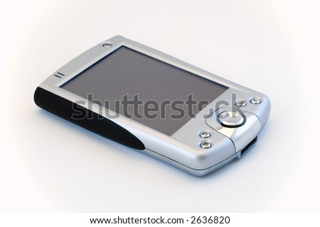 Generic Pocket PC for a mobile worker - stock photo