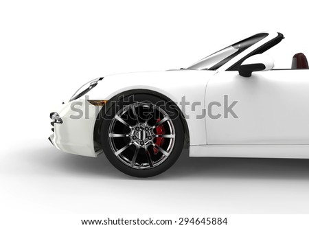 Generic white sport car isolated on a white background
