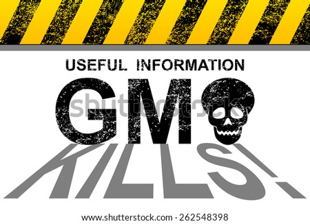 Genetically modified organisms threat to the world - stock photo
