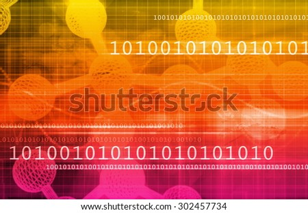 Genetics and Technology Research as a Science Art - stock photo
