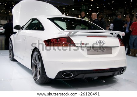 GENEVA, MAR 4: new Audi TT RS, presented at the 79th Geneva Motor Show, in Swtizerland on March 4, 2009.