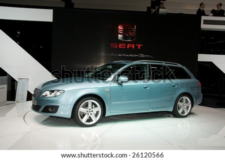 GENEVA, MAR 4: new Seat Exeo presented at the 79th Geneva Motor Show, in Swtizerland on March 4, 2009.