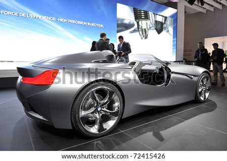 Geneva March 1 Bmw Vision Connected Stock Photo Royalty Free