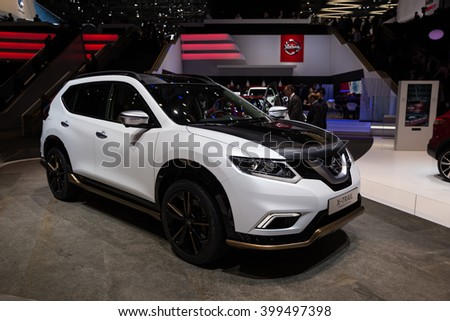 GENEVA, MARCH 2: nissan  X-TRAIL premium concept car on display at 86th international Geneva motor Show at Palexpo-Geneva on March 2, 2016 at Geneva, Switzerland.